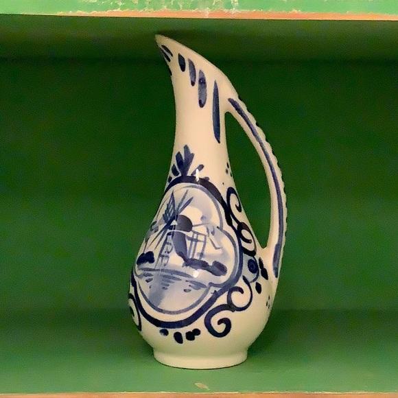 Vintage Delfts Blue Miniature Pitcher